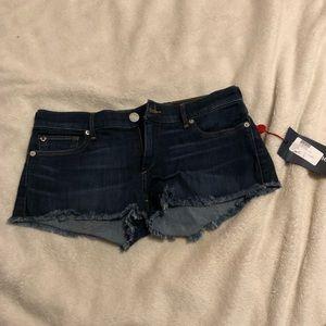 True Religion Cutoff Jean Shorts